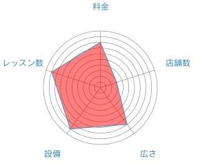 ビクラムヨガのレーダーチャート
