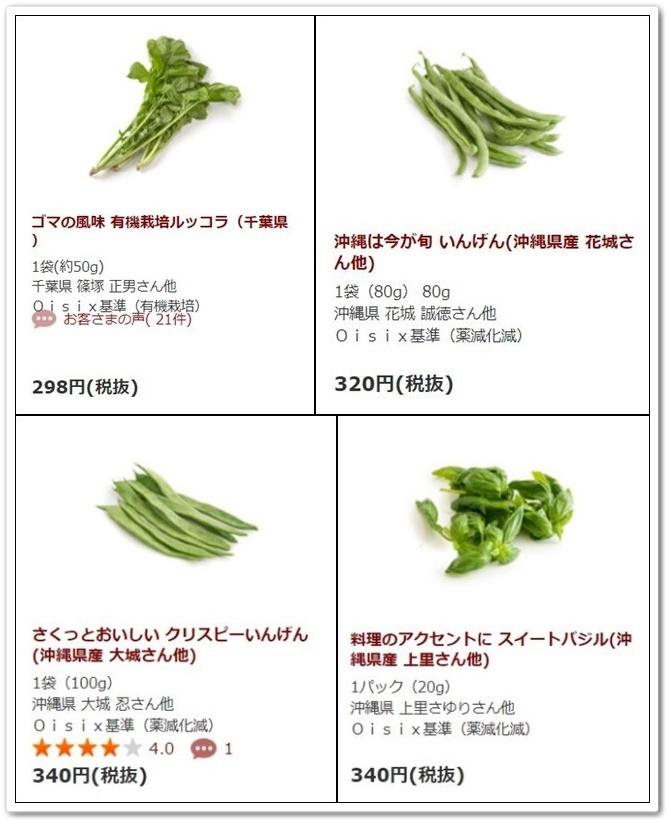 オイシックスの野菜の例(作った人や原産地も分かる)
