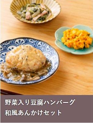 野菜入り豆腐ハンバーグ 和風あんかけセット