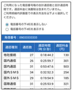 OCNモバイルONEアプリの画面4