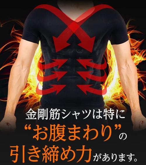 金剛筋シャツは腹まわりの引き締め力が強い
