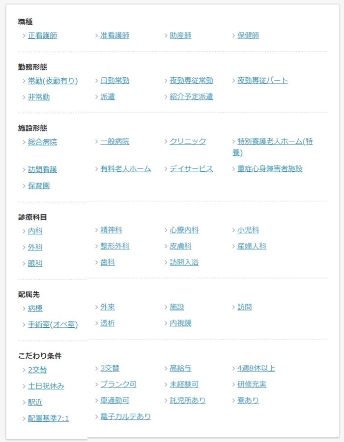 人気の検索条件