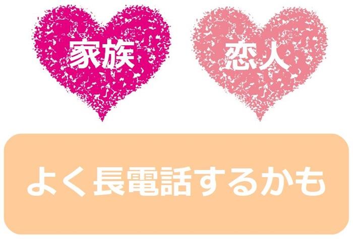 恋人・家族などと【長電話】する人向け(通話料金フルで無料)