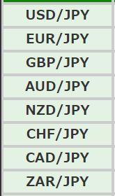 DMM FXの通貨ペア1