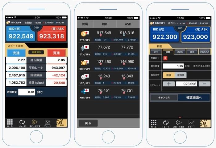 仮想通貨FX専用アプリ「ビットレ君」1