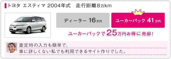 トヨタ エスティマ 2004年式 走行距離80,000キロ 25万円お得に売却